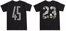 Space Jam 45 23 Retro 11 XI 23 2016 Black T Shirt to match with Air Jordan shoes