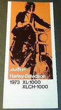1973 HARLEY DAVIDSON MOTORCYCLE XL-1000 SALES BROCHURE