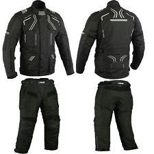 Motorradkombi textil , ,schwarze motorrad jacke und hose Herren ,Textilkombi
