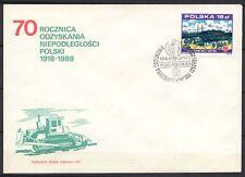 POLAND 1988 FDC SC#2867 IRONWORKS STALOWA WOLA