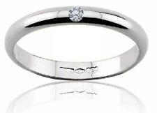 Diana fede anello matrimonio oro bianco 18 kt.  grammi 3 con diamante naturale