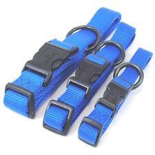 "HAMILTON ""Fits All"" Adjustable Nylon Dog Collar, Blue"