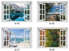 3D WANDBILD FOTOTAPETE FENSTERBLICK Selbstklebende PVC oder VLIES + Kleister
