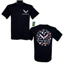 CORVETTE T-shirt, concesso in licenza, US-Import, ORIGINALE, 2018, c2, c3, c4, c5, c6, c7