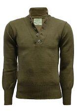 Brand New Genuine originale USA MILITARE DEL 100% LANA 5-Pulsanti Maglione Pullover
