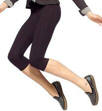 Hue U12948 Black Stretch Cotton Capri Legging