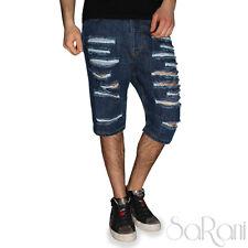 Bermuda Homme Akiro' Jeans Pantacourt Casual Cassures En Jeans Coton SARANI