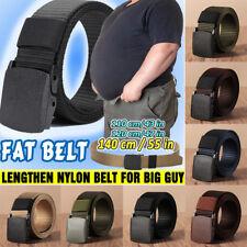 Mens Outdoor Buckle Long Nylon Waist Web Belt Tactical Strap Waistband