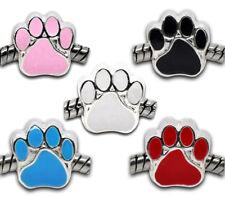20 European Hundpfote Spacer Perlen Beads Charm Element Bronzefarbe 11x11mm FL