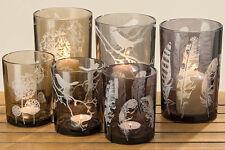 """Windlicht """"Pure"""" Glas versch. Farben Motive Größen H 12 cm oder H 18 cm"""