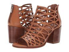 Vince Camuto Kevston Leather Block Heel Sandals, Multiple Sizes Brick VC-KEVSTON