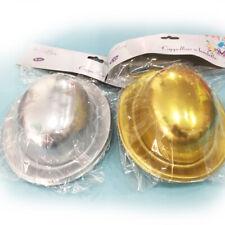 Cappellino Bombetta Oro Argento Capodanno 6pz