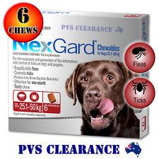 Nexgard Red 6 for Large Dogs 25.1 - 50 kg  6-Pack Nexguard Flea & Tick
