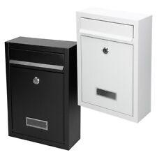 Casella postale lettera con 2 chiave in acciaio inossidabile colore nero/ bianco