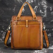New Retro Men's Genuine Cow Leather Messenger shoulder Bag Briefcase Handbag