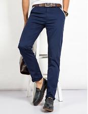 Men's Casual Trousers Pants Slim Fit Anti-Wrinkle