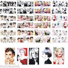 Full Wrap Water Transfers Nail Art Decals Pop Audrey Hepburn Marilyn Monroe