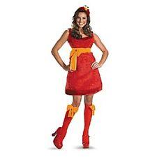 Womens Adult Sesame Street Sexy Sassy Deluxe Plush Red Elmo Costume