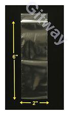 "2"" x 6"" Reclosable Resealable Ziplock Zip Lock Plastic Bags 2 ML 2x6 Bag"
