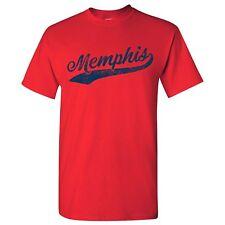 Memphis City Script - Baseball, Home Run Men's T-Shirt - Red
