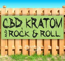 CBD KRATOM & ROCK & ROLL Advertising Vinyl Banner Flag Sign Many Sizes