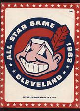 1963 MLB All Star Game Program @ Cleveland Indians EX