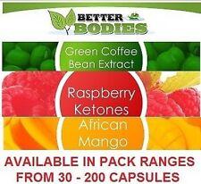Cetona de frambuesa Mango Africano Green Coffee Bean Extract pérdida De Peso Dieta Pastillas
