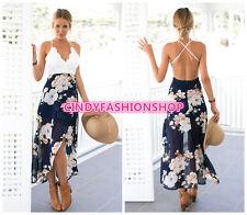 2017  Sexy Women Holiday Summer Boho Backless Evening Party Dress Beach Dresses