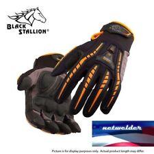 BLACK STALLION ToolHandz Anti-Vibration Leather Mechanic's Gloves GX100