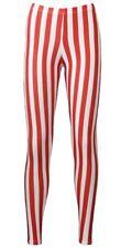 Rojo Y Blanco Rayas Verticales Candy Cane Impreso Leggings Sofisticado Vestido Halloween