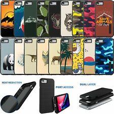 For iPhone 7/iPhone 8, Slim Hybrid Dual Layer Grip Design Case