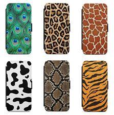 Animal Print Skin Leopard Snake WALLET FLIP PHONE CASE COVER FOR IPHONE MODELS