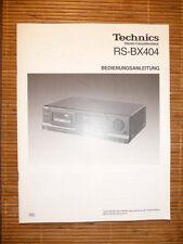 Bedienungsanleitung für Technics RS-BX404 Tape Deck, ORIGINAL