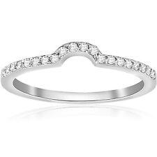 1/6cttw Diamond Curved Wedding Ring Guard Engagement Enhancer Band 14k Gold