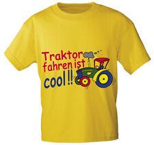 Kids Camiseta Talla 98-146 Tractor Conducir es Cool 08233 AMARILLO