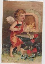 Valentine's Day Gift of Love Cupid Blacksmith Postcard
