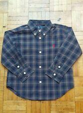 Boys Ralph Lauren Red Multi Checked Shirt LS Small Pony 12 - 24mths New (17chk2)