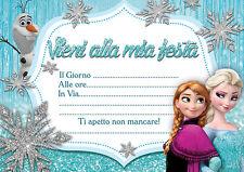 10 inviti compleanno Invito Festa il regno di ghiaccio congelati in italiano