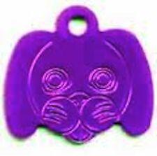 Cane Faccia cane Id Animale domestico Medaglietta 30mm Diversi Colori da Melian