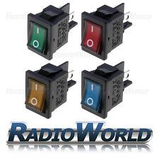 10A 250 V on-off rectangle long interrupteur lumineux bleu vert orange rouge