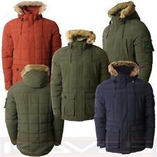Men's Quilted Threadbare Winter Padded Fur Hooded Sherpa Parka Coat DMU047