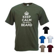 'Keep Calm and Grow a Beard' November Moustache Mo Funny T-shirt Tee