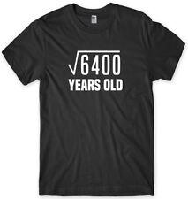 80th Birthday Tee Square Root Maths Funny Mens Unisex T-Shirt