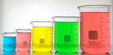 Borosilicate Glass Graduated Laboratory Beakers Low Form, 50/100/250/500/1000mL