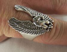 FLYING EAGLE BIKER RINGS BR111 jewelry bird HEAVY  ring bikers fashion jewelry