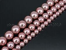 NonMagnetic Metallic Light Pink Hematite Gemstone Round Beads 6mm 8mm 10mm