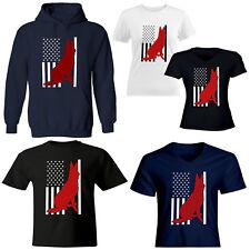 Dog American Flag Mens Womens Juniors Girls Unisex Tee T-Shirt Short Sleeve Top