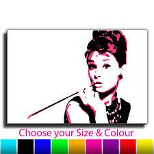 Audrey Hepburn Banksy Single Canvas Wall Art Picture Print AB9