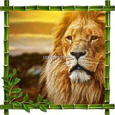 Sticker autocollant Cadre bambou Lion7133