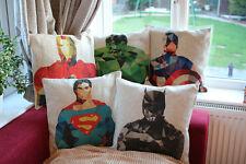 Los Vengadores superhéroes 3D Superman Batman Ironman Almohada/Cojín Cases Covers